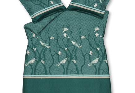 Dekbedovertrekken | VanDyck Small Birds Green